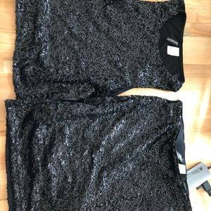 Sequin tank and skirt